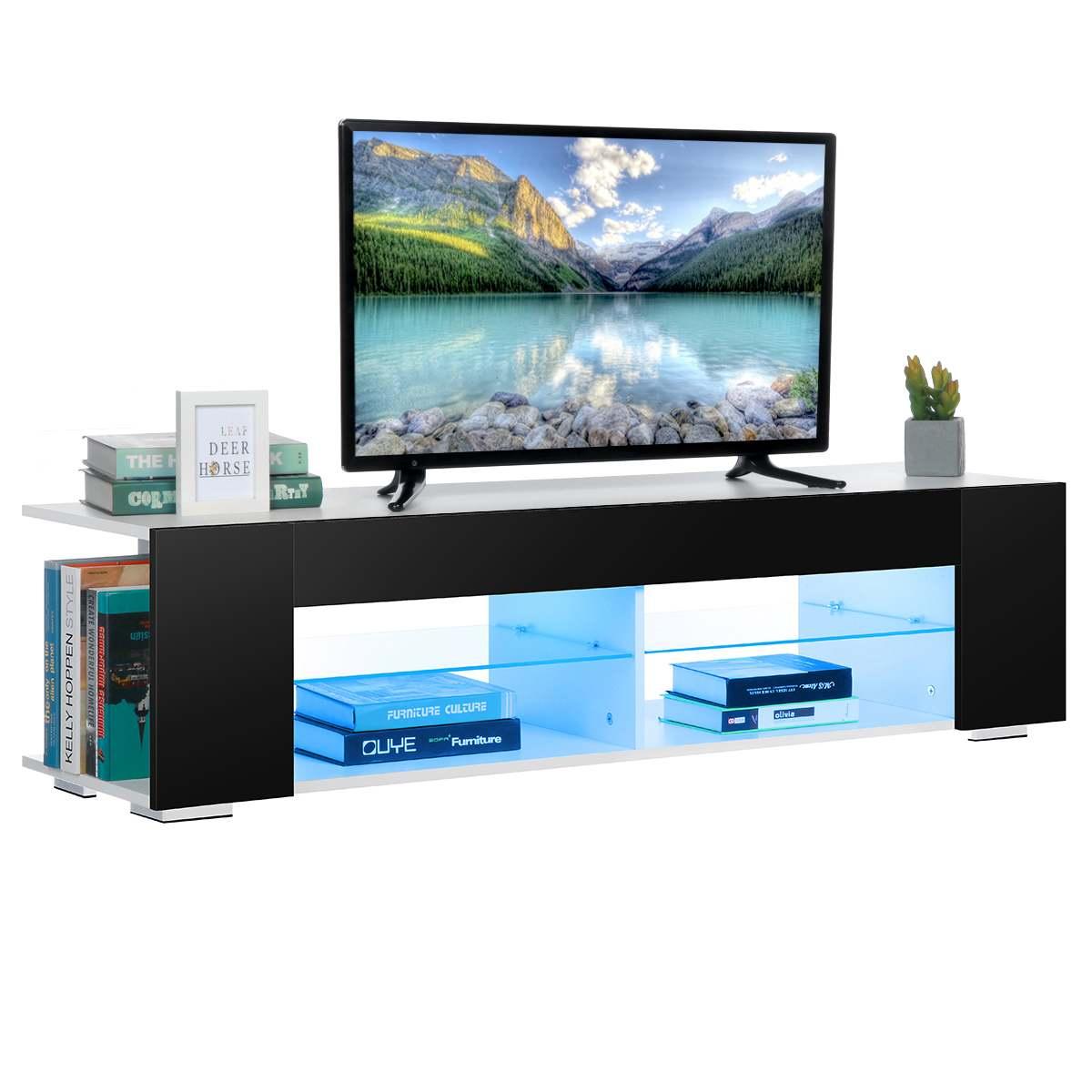 الحديثة RGB LED TV تقف مع 2 الجانب مجلس الوزراء التخزين المنظم غرفة المعيشة الأثاث عالية قدرة الجداول التلفزيون وحدة التلفزيون قوس