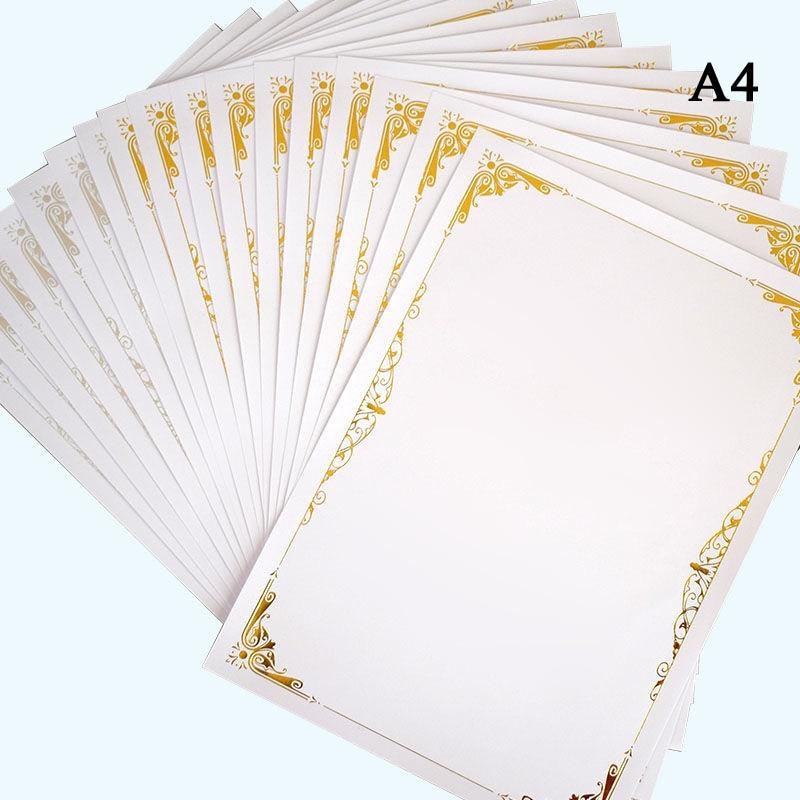 Бумага а4 для сертификатов награждения, бумага для сертификатов окончания учебного заведения, офиса, школы, Золотая/серебряная фольга, 20 шт.