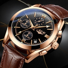2020 LIGE New Fashion Mens Watches Top Brand Luxury Military Quartz Watch Premium Leather Waterproof