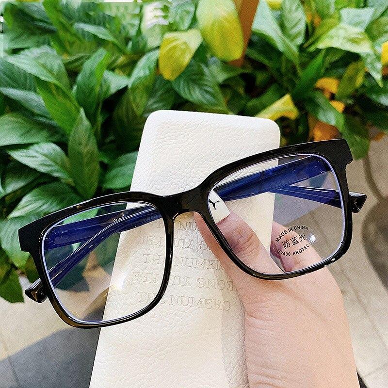 Anti Blue Light Womens Mens Eyewear Frame Square Myopia Frames Spectacles Frames Ladies Transparent Optical Eye Glasses