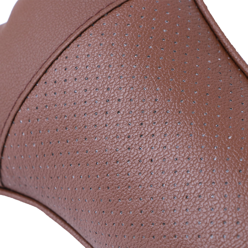 2 PCS artificial leather car pillow protection your neck/car headrest hole-digging design/auto supplies safety neck pillow enlarge