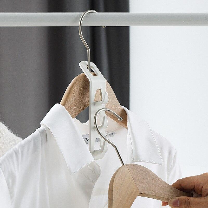 Бытовая вешалка для хранения, крючок, вешалка для гардероба, отделка-артефакт, четыре части, многослойный волшебный крючок для одежды, неско...