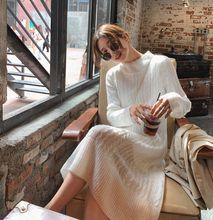 COIGARSAM tricot femmes robe robes riz blanc avec un 6019