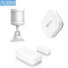 Умный датчик температуры и влажности Aqara, 3 шт., датчик человеческого тела, датчик окон ZigBee, окружающая среда, для приложения Xiaomi Mijia Home Kit