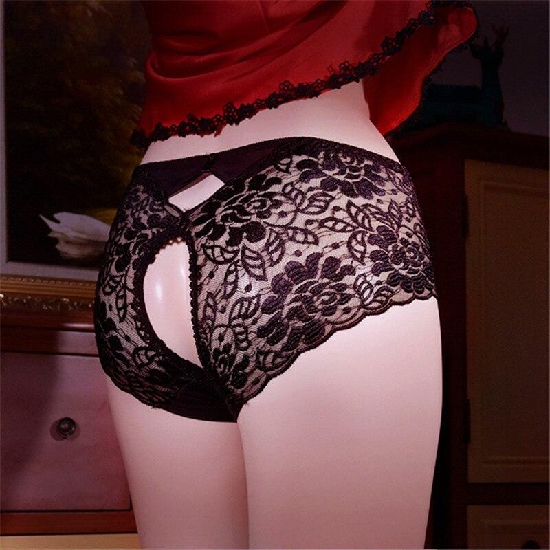 Porn Lace Panties Women's Erotic Lingerie Crotchless Underpants Plus Size Sex Clothes Femme Hot Knic