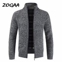 ZOGAA Otoño de moda gruesa de negocios Casual suéter Cardigan hombres marca Slim Fit prendas de vestir de punto suéter de invierno de abrigo puente hombres