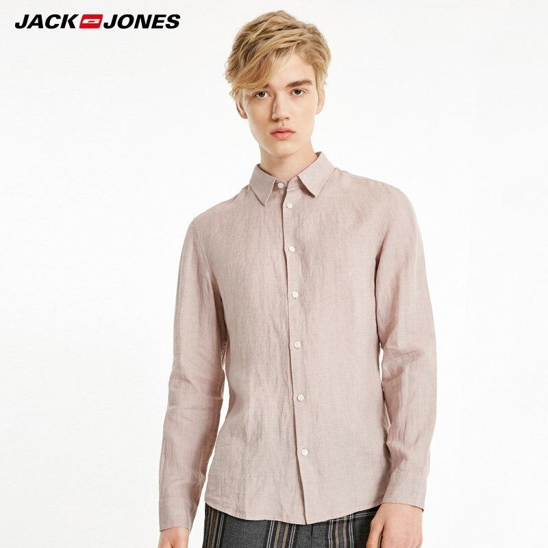 قميص كتان رجالي من جاك جونز | 219105522