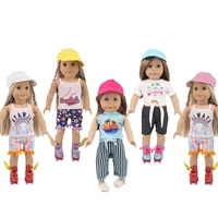 fashion hats for 18 43cm american girl bjd reborn baby doll accessories