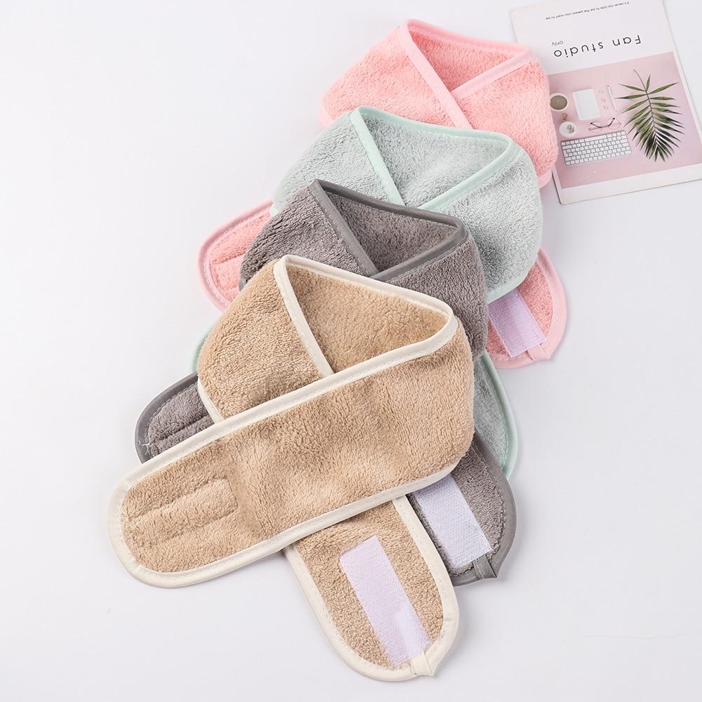 Women Facial Hairband Make Up Wrap Head Cleaning Cloth Headband Adjustable Stretch Towel Shower Caps Soft Beauty Towel 2019 Hot