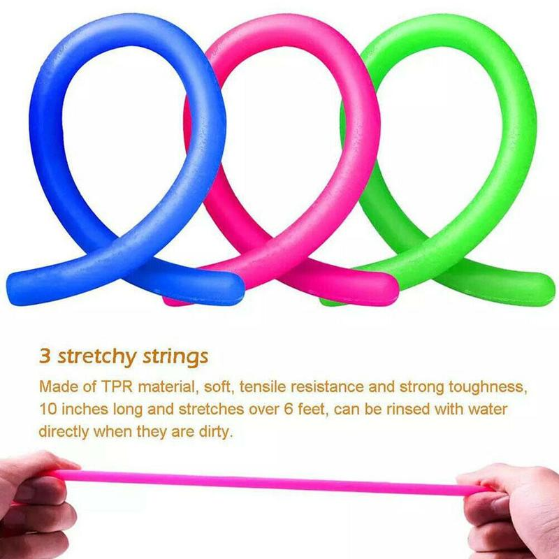 Exhaust Decompression Toy Set Net Tube Marbles Vent Edamame Decompression Drawstring Five Stress Relief Toys Take Home Together enlarge