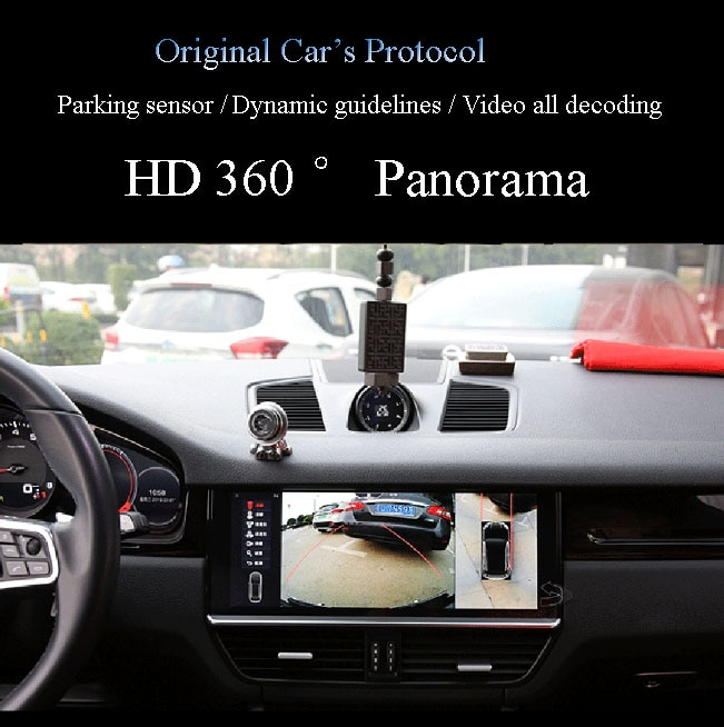 Plug and Play No Coding 360 Degree View for MIB2 Porsche Panamera 2018 Display 12.3 inch Original Car Multimedia System