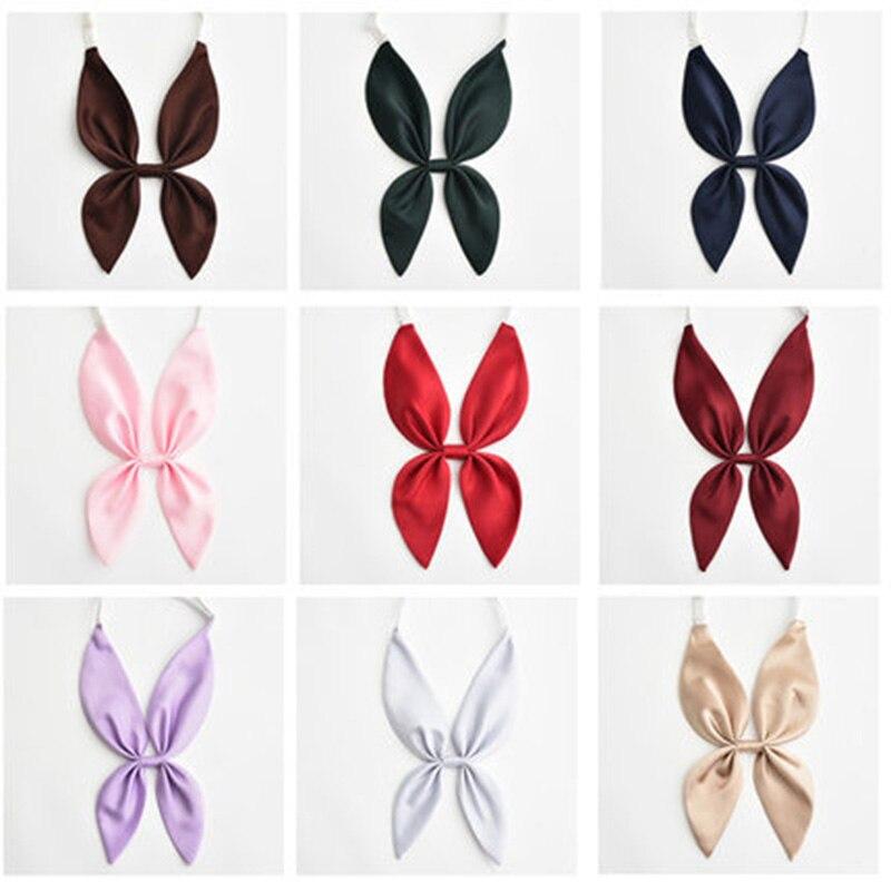 Новый милый галстук-бабочка с кроличьими ушками Женские однотонные галстуки-бабочки с удлинительным ремешком галстук-бабочка для костюмов...