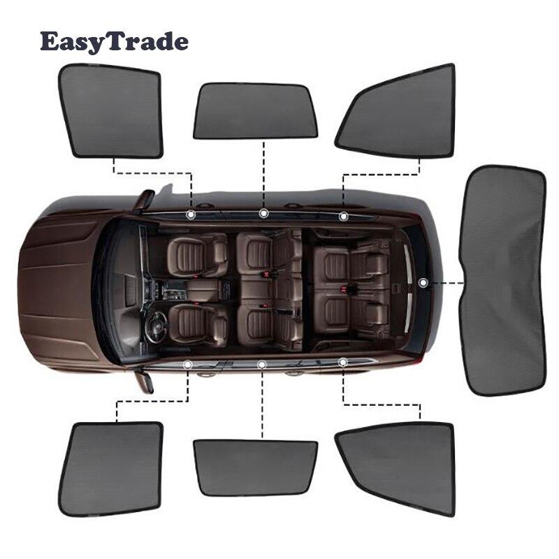 Parasol magnético para Mercedes Benz, Clase S W222, Clase S, para coche, sombrilla, malla, ventana lateral, aislamiento solar, 7 Uds