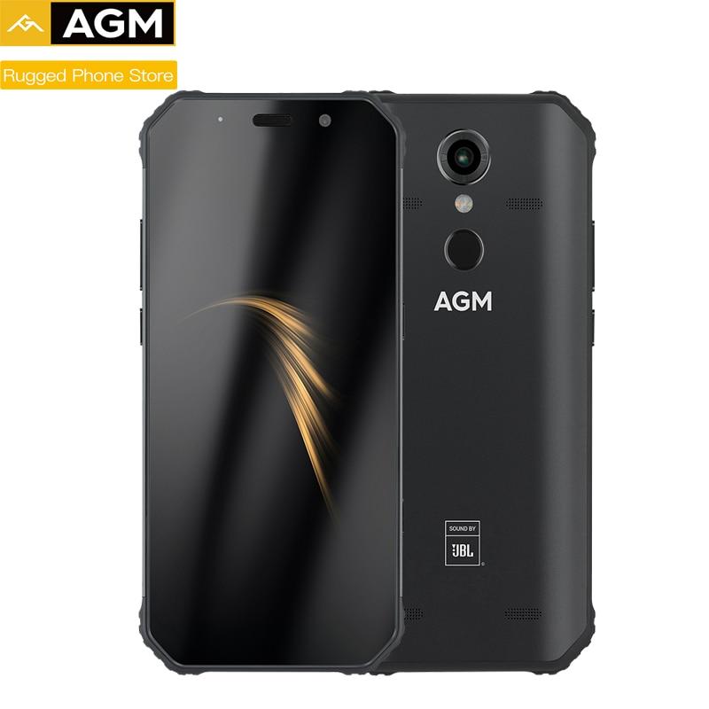 "AGM A9 IP68 étanche téléphone robuste 5.99 ""HD 189 4GB 32GB 64GB ROM SDM450 Octa Core 5400mAh empreinte digitale type-c NFC"