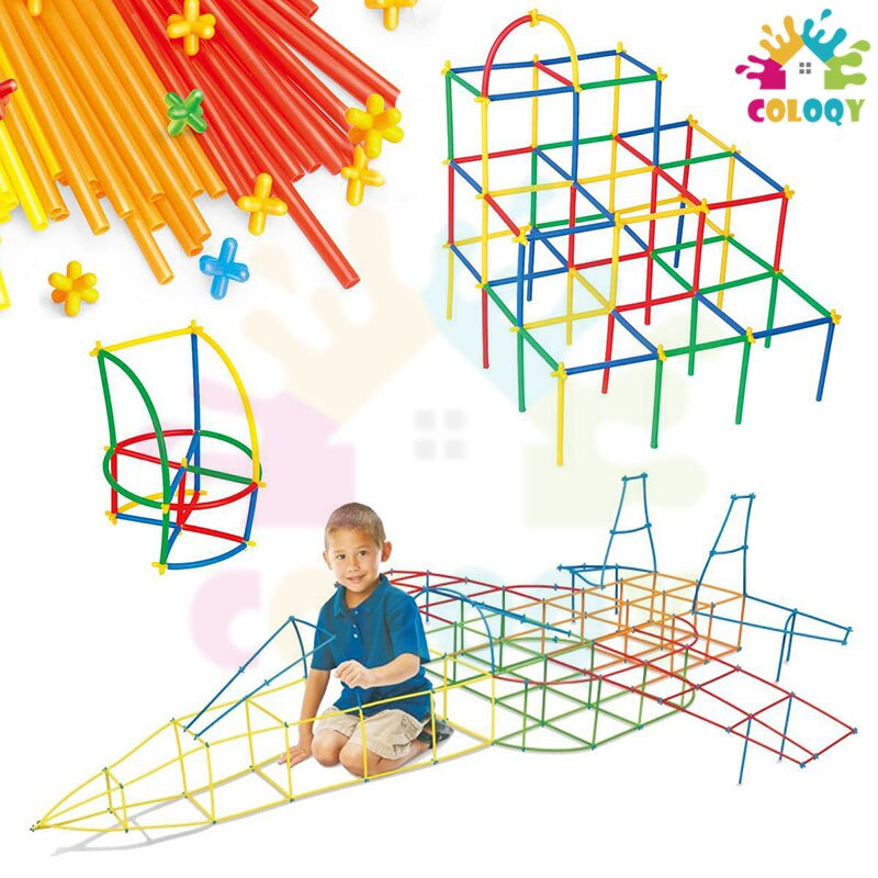 COLOQY Toys 4D Plastic Stitching Inserted Construction Assembled Toy Blocks Bricks Educational Toys & Hobbies For Children