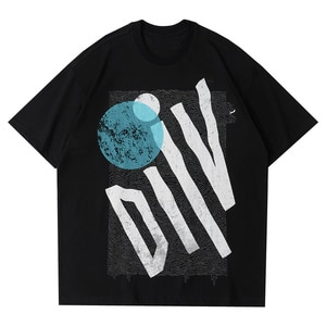 LACIBLE Tees Shirts Harajuku Hip Hop Creative Graffiti Print T-Shirts Loose Casual Summer Streetwear Cotton Tshirt Tops Unisex