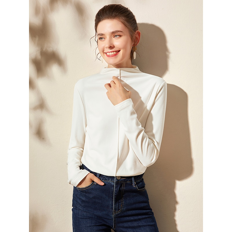 Camisa larga de Dralon de doble cara para mujer, ropa interior de...