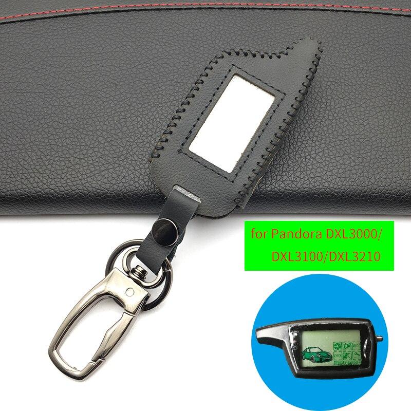 DXL 3000 llavero de cuero para alarma de coche sistema Pandora DXL3000 DXL3100/3170/3210/3250 /encanto de Control remoto LCD 3290