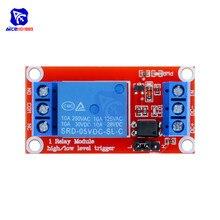 Diymore 1 canal 5V / 9V / 12V / 24V Module de relais avec optocoupleur haut et bas niveau déclencheur Module dalimentation pour Arduino