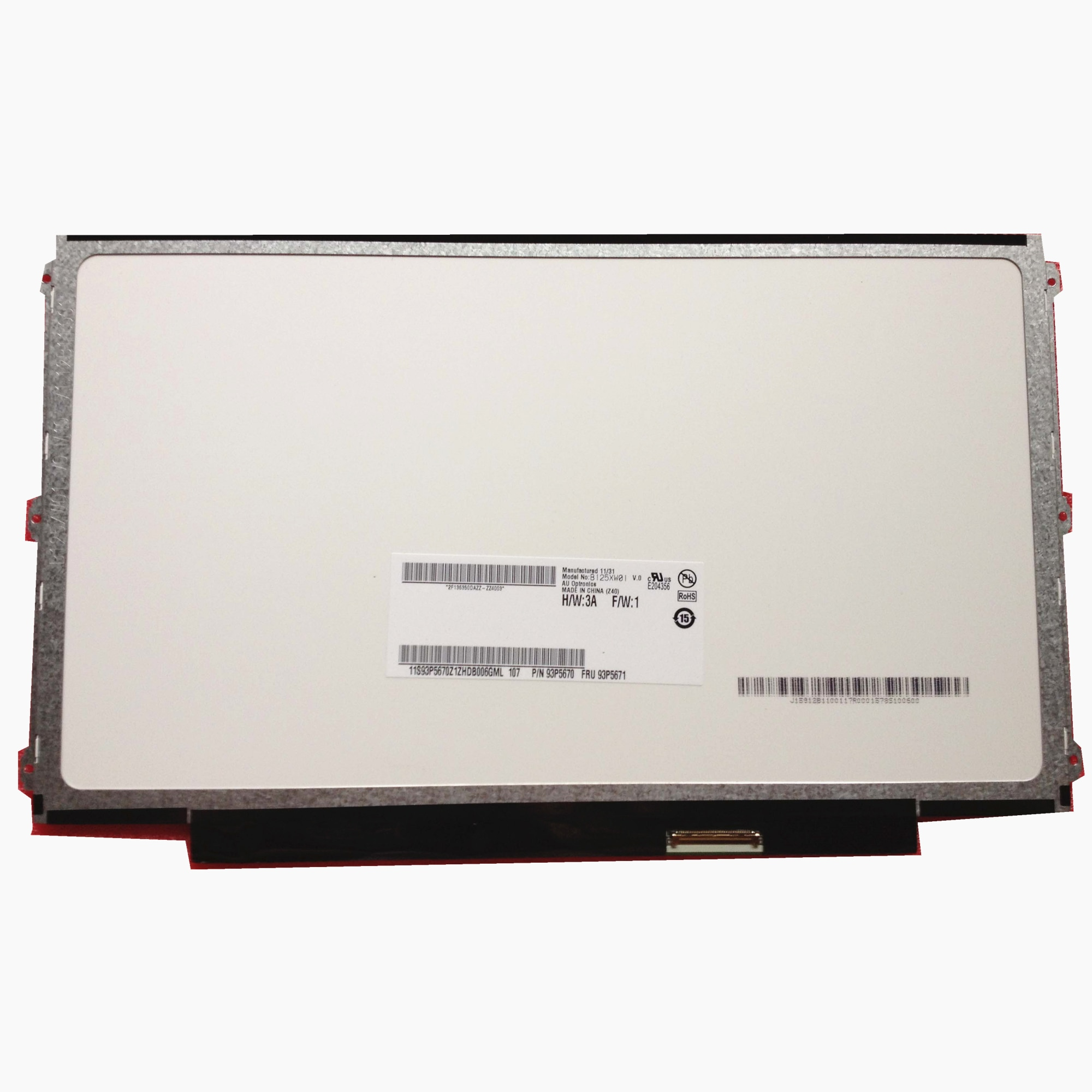 Envío Gratis B125XW01 V0 B125XW01 V.0 LTN125AT01 apto para lenovo U260 K27 K29 X220 X230 Lcs pantalla 1366*768 LVDS 40 pines
