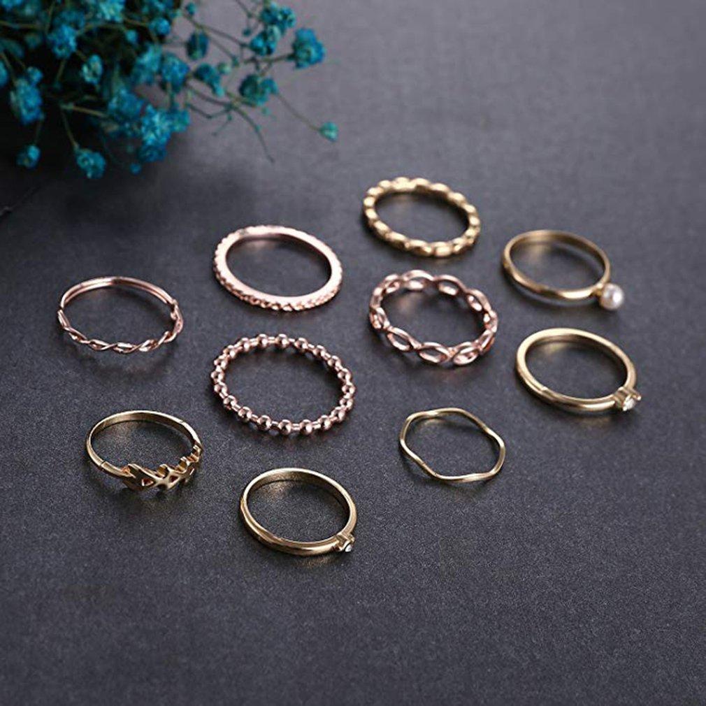 10 шт./компл. волнистое кольцо с зубчатой передачей, профессиональное модное романтичное кольцо, долговечное, долговечное