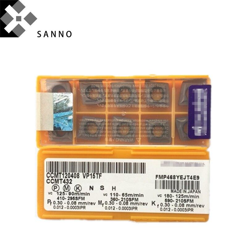Ücretsiz kargo! Dayanıklı CNC karbür dönüm araçları CCMT120404/CCMT120408 VP15TF/UE6020 dönüm ekler torna kesme bıçağı