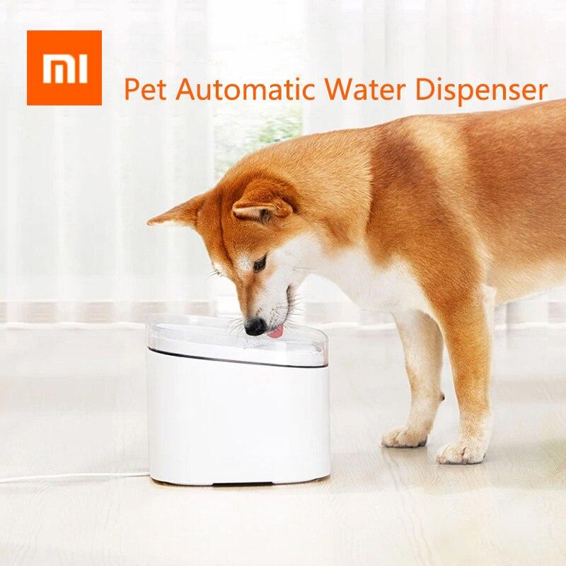 Новый Xiaomi Mijia котенок щенок диспенсер для воды для домашних животных кошка 2L Электрический фонтан для животных Автоматический Смарт-чаша для собачьего питья продукт для домашних животных