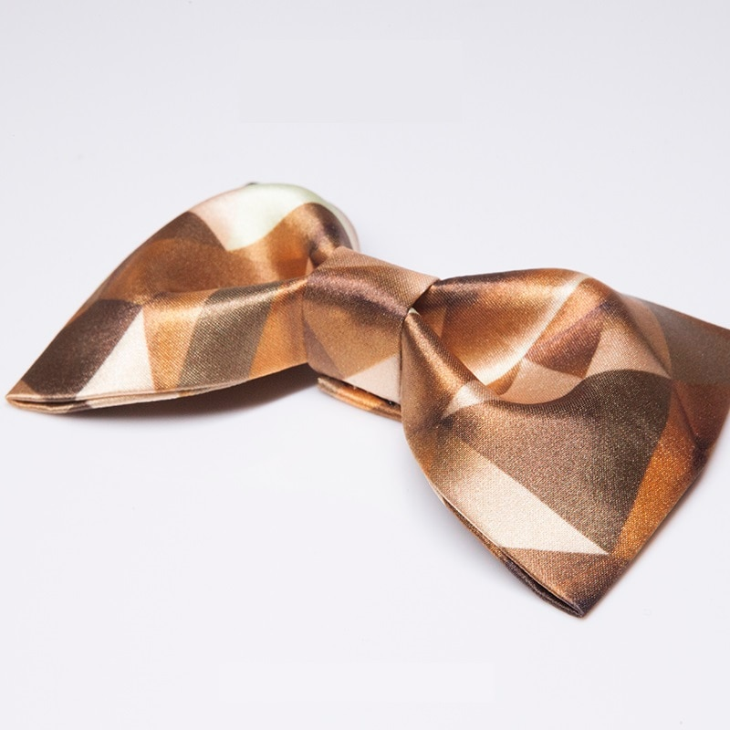 Fashion Coffee Gold Plaid Bow Tie For Men High Quality Mens Bowtie Great For Party Groom Wedding Butterfly Ties