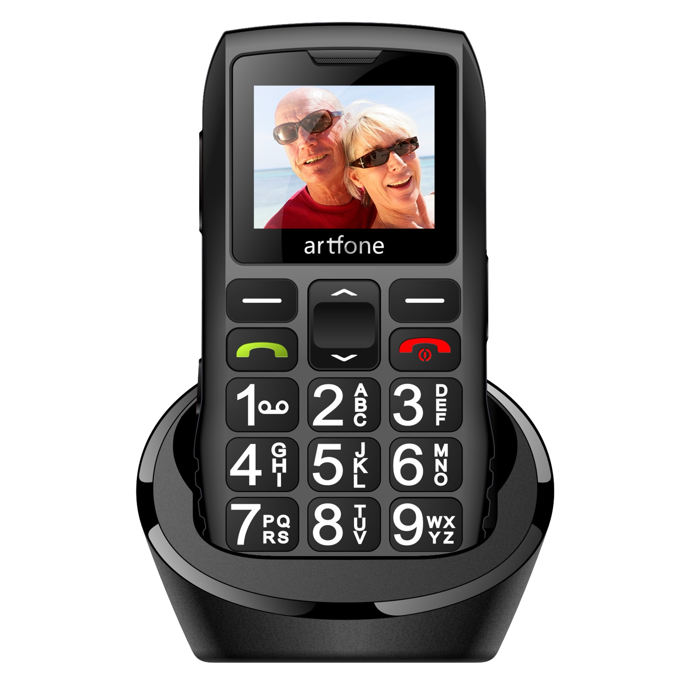 هاتف محمول بزر كبير لكبار السن ، هاتف artfone C1 + بشريحتين غير مقفول ، بطارية 1400 مللي أمبير في الساعة ، هاتف محمول أقدم غير مقفول مع SOS ايمرج