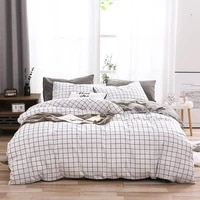 modern simple duvet cover set king queen bedding comforter soft home textile with pillowcases