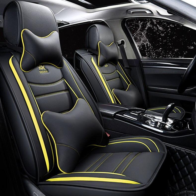 Cubierta universal de asiento de coche para Toyota rav4 deseo Prado mark auris prius camry corolla corona chr automóviles cubiertas de asiento de coche de estilo