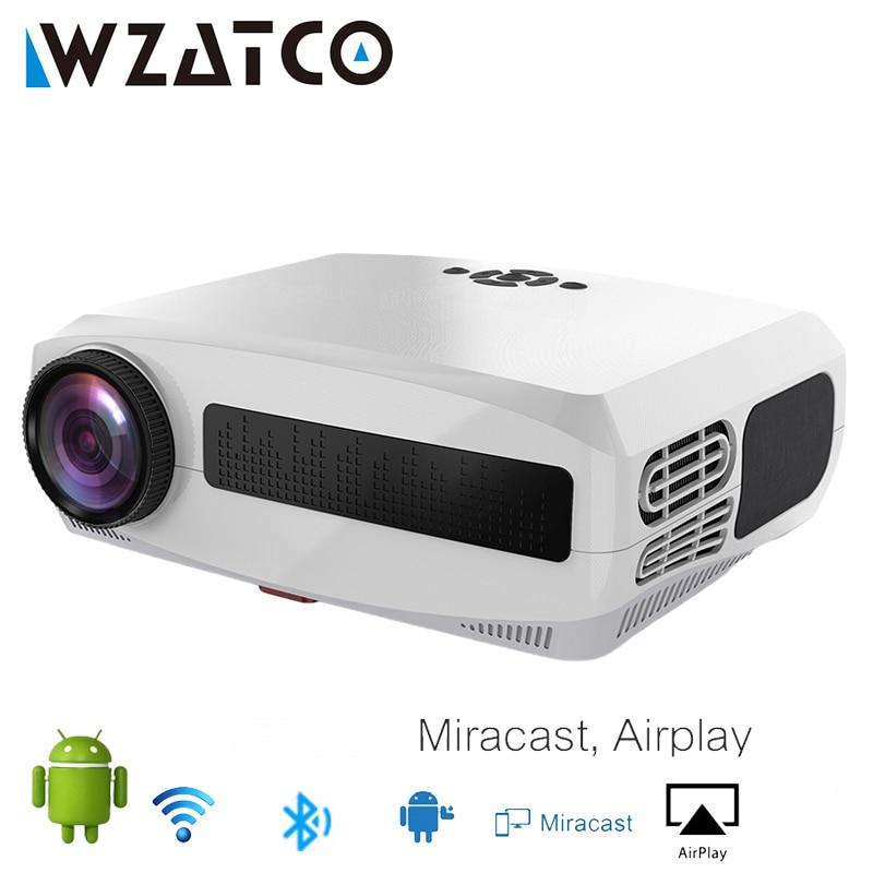 WZATCO C3 New LED Projector Android 10.0 WIFI Full HD 1080P 300 inch Big Screen Proyector 3D Home Theater Smart Video Beamer
