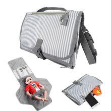 Impermeable Multi función portátil pañal bolso de bebé mamá limpia plegado manual de Cuidado infantil productos carro bolsa colgante