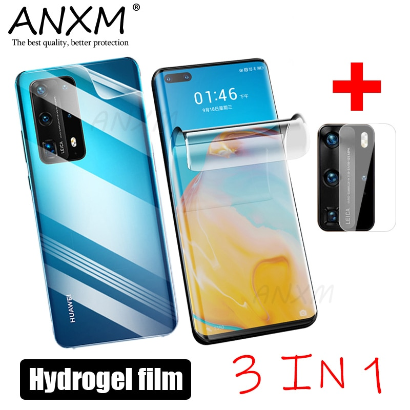 Película de hidrogel de cobertura completa para Huawei P40 P30 Pro Plus Lite, Protector de pantalla para Huawei P30 P40 Lite Pro, película de cristal para lente de cámara