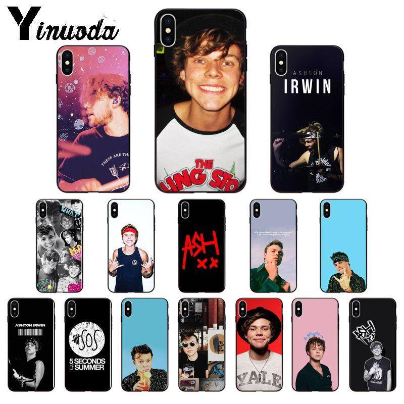 Yinuoda 5SOS Ashton Irwin accessoires de téléphone souple coque de téléphone pour iPhone 5 5Sx 6 7 7plus 8 8plus X XS MAX XR