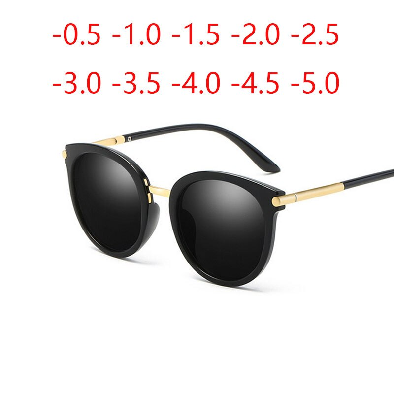 Round Retro Women Polarized Prescription Sunglasses Men Driving Mirror Gafas Fashion Myopia Eye Glas