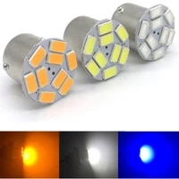 300pcs amber yellow orange bau15s 7507 py21w 1156py 12v led bulb lamp for car auto front turn signal light styling