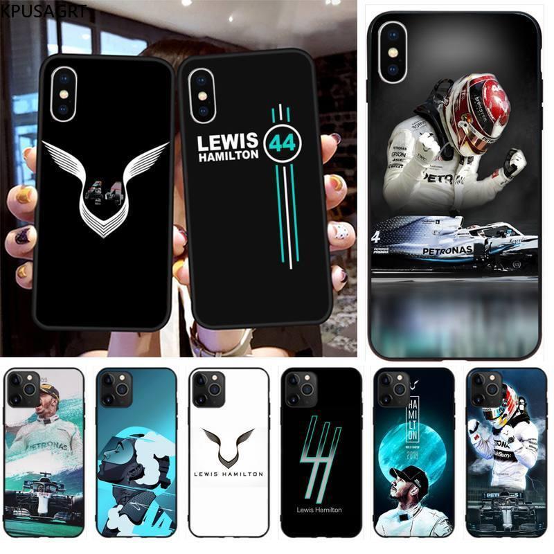 Fajne wyścigi racer Lewis Hamilton 44 miękki futerał na telefon Capa na iphone 12 pro max 11 pro XS MAX 8 7 6 6S Plus X 5S SE 2020 XR Case