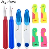 4pcs sewing seam ripper tool yarn scissors thread cutter with 4pcs automatic needle threader for needlework sewing accessories