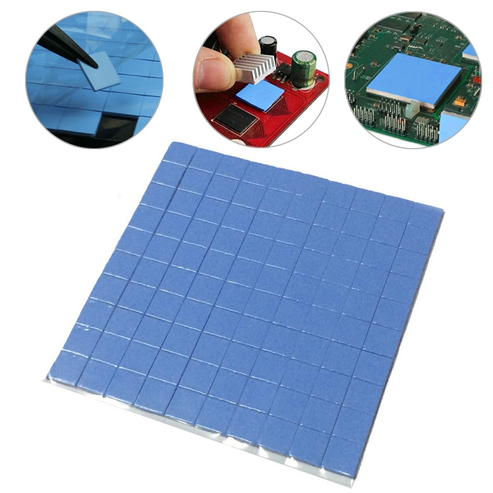 2020 de alta calidad de 10mm * 10mm * 1mm 100 Uds térmico Mat para la GPU CPU disipador de calor de refrigeración conductivo de silicona Pad