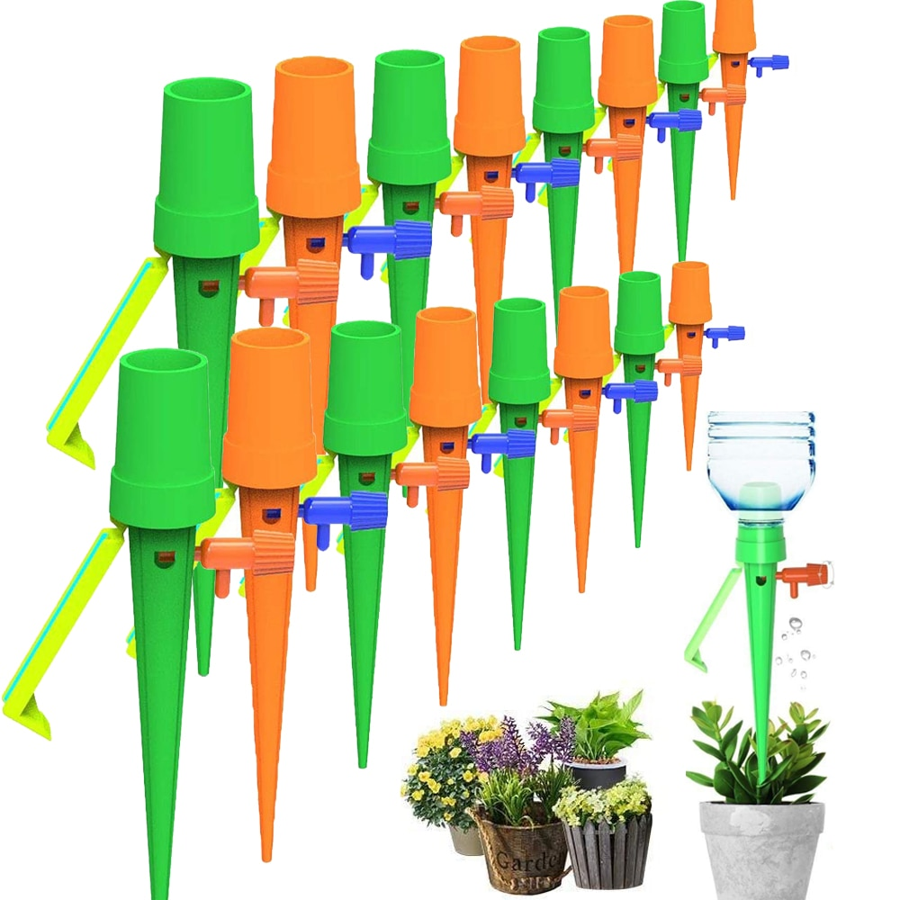24/18/15/12 PCS Auto Drip Irrigation Watering System Dripper Spike Kits Garden Household Plant Flower Automatic Waterer Tools