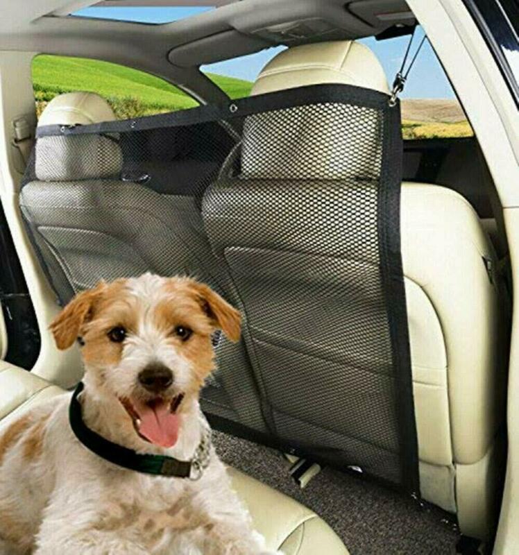 Автомобиль путешествия собака автомобиля задняя сетка для сиденья сетчатая перегородка сиденье изолирующая сетка