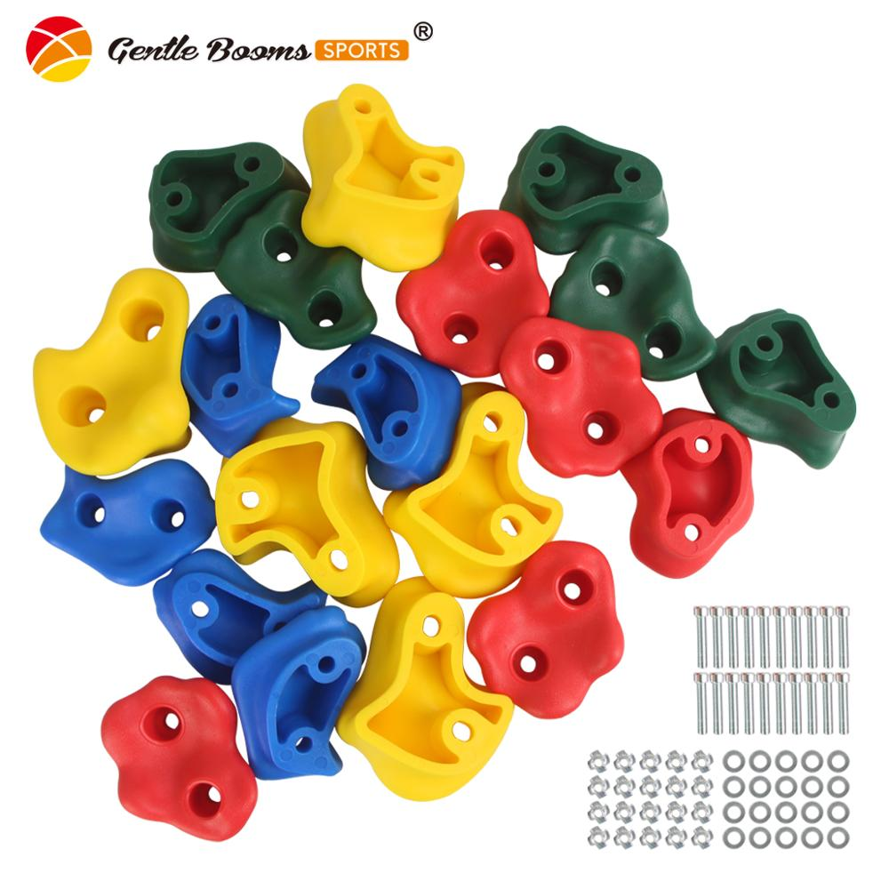 20Pcs/Set Climbing Rock Toys For Children Wall Stones Hand Feet Holds Grip Kits Kids Outdoor Playground Indoor Fitness Equipment