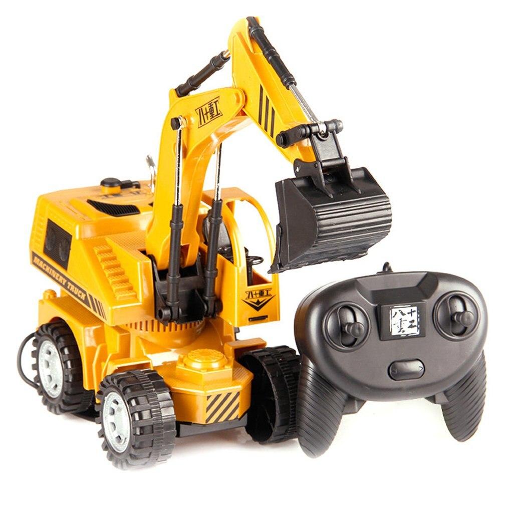 Alta simulación de vehículo de ingeniería de aleación 5CH, Control de cable, modelo de coche excavadora, juguetes con fundición de Metal ligero, los mejores regalos