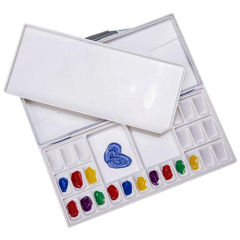 24 rejillas de alta calidad vacío acuarela paleta pinturas latas caja para arte profesional pintura suministros de paleta de tintas acrílico humectante