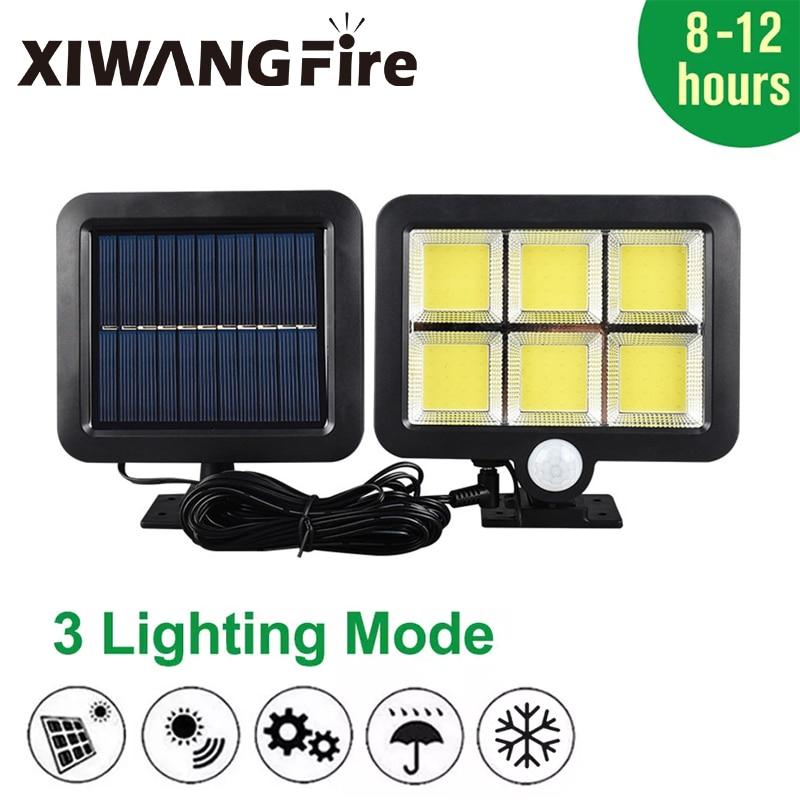LED Outdoor Solar Light Motion Sensor Rechargeable Solar Wall Light Waterproof Emergency Street Garden Porch Light 100/120LED