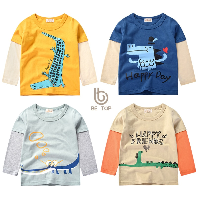 Children's pullover baby girl bottoming shirt spring and autumn new boy long-sleeved T-shirt children's clothing