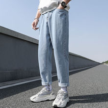 New Loose Men Jeans Male Trousers Simple Design High Quality Cozy All-match Students Daily Casual St