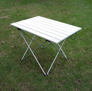 Outdoor Portable Foldable Table for Fishing Picnic Camping Lightweight Aluminum alloy Fishing Chair S/L