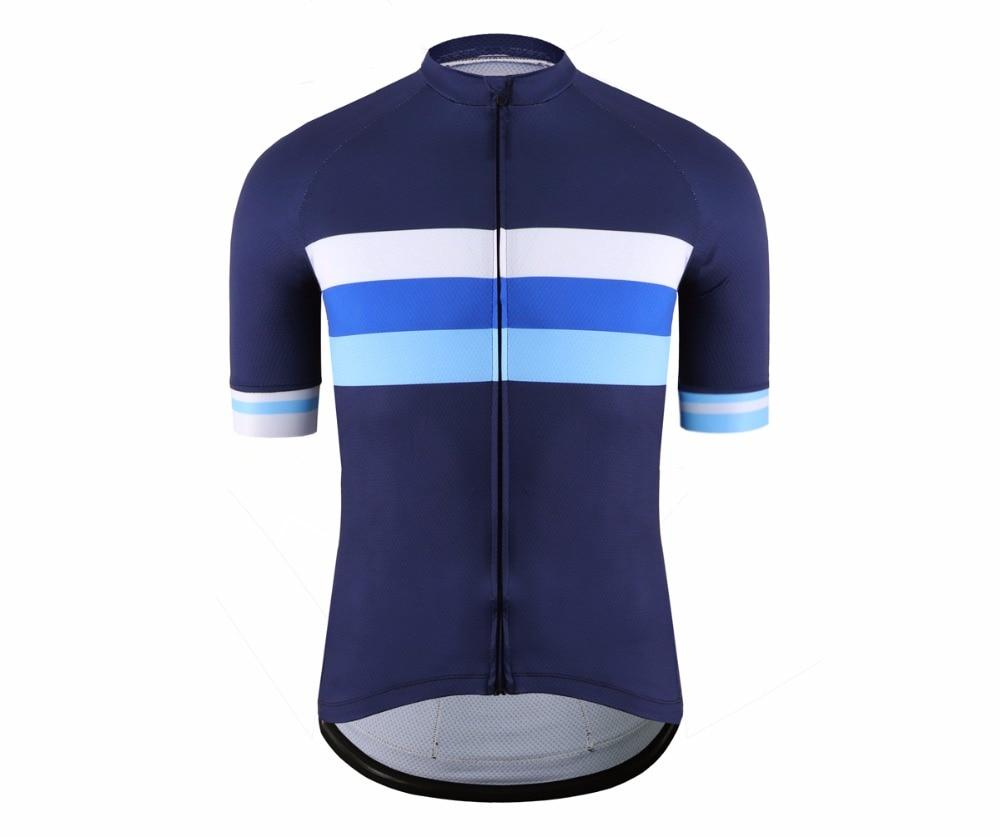 SPEXCEL Classic malla transpirable pro manga corta ciclismo jerseys alta calidad bicicleta camisa azul rayas diseño bicicleta equipo